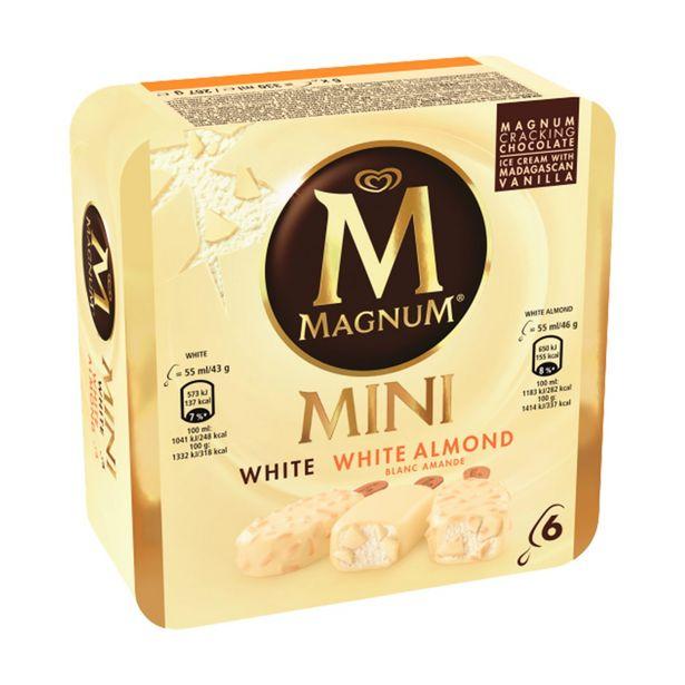 Oferta de Gelado Mini White Mix Olá Magnum por 2,99€
