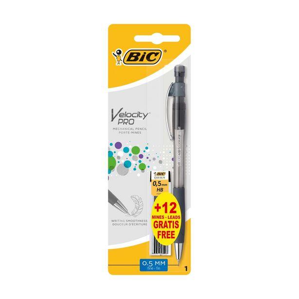 Oferta de Lapiseira 0.5mm Velocity Pro com Minas BIC por 2,39€