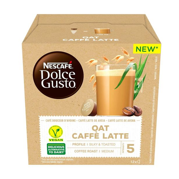 Oferta de Leite de Aveia e Café Cápsulas Dolce Gusto Starbucks por 4,99€
