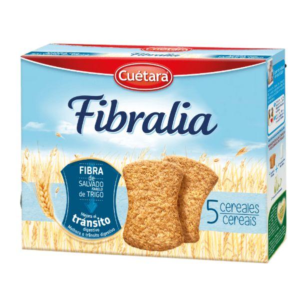 Oferta de Cuétara Bolacha Fibralia 5 Cereais por 1,49€