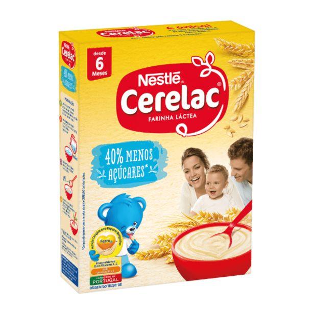 Oferta de Cerelac Farinha de Trigo Láctea -40% Açúcares por 1,39€