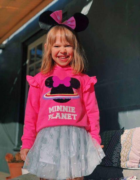 Oferta de Sweatshirt com Capuz para Menina 'Minnie Planet', Rosa por 9,99€
