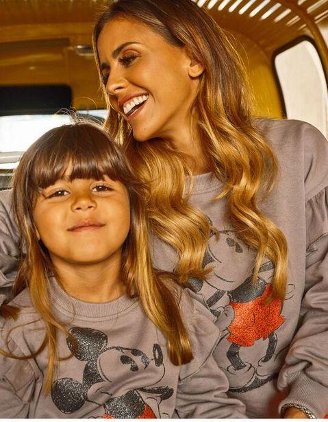 Oferta de Sweatshirt Curta para Adulto Disney 'You & Me', Cinza por 12,99€