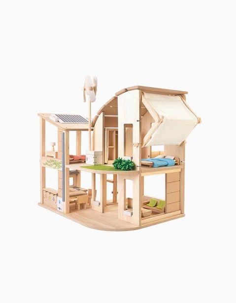 Oferta de Casa De Bonecas Ecológica Com Mobília Plan Toys 3A+ por 269€