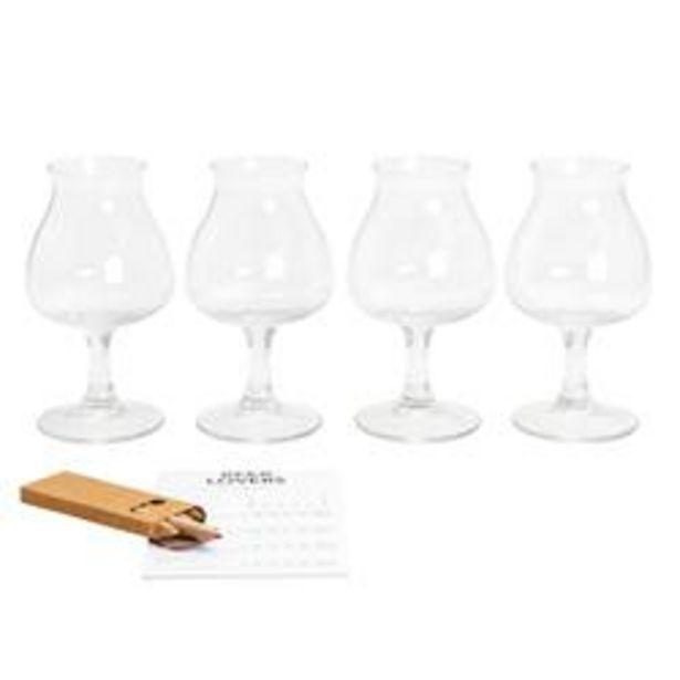 Oferta de TASTING Conjunto de cerveja 9 peças transparente por 7,47€
