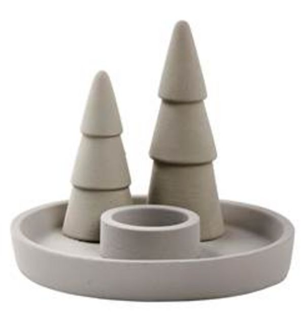 Oferta de UP NORTH Porta-velas para lamparinas cinzento H 11 cm; Ø 15 cm por 3,5€