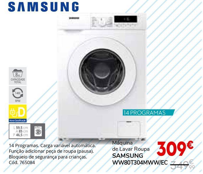 Oferta de Máquina lavar roupa Samsung por 309€