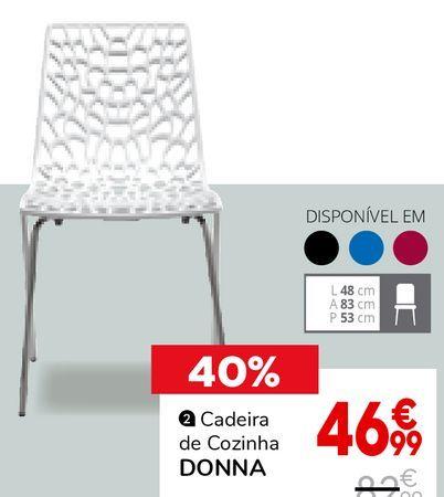 Oferta de Cadeiras para cozinha por 46,99€