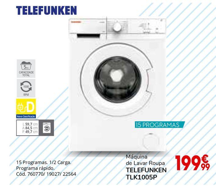 Oferta de Máquina lavar roupa por 199,99€