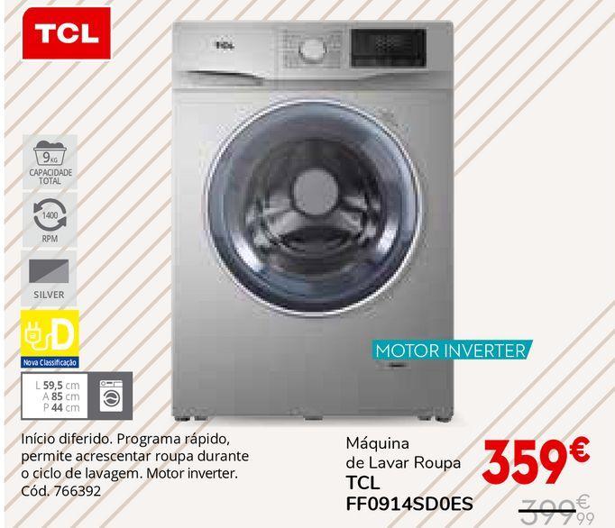 Oferta de Máquina lavar roupa tcl por 359€