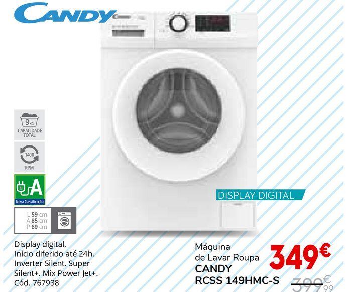 Oferta de Máquina lavar roupa Candy por 349€