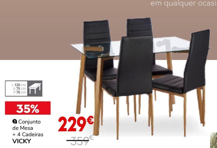Oferta de Conjunto de mesa e cadeiras por 229€