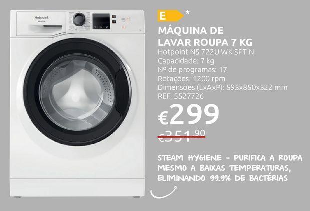 Oferta de Máquina lavar roupa Hotpoint por 299€