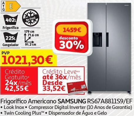Oferta de FRIGORIFICO AMERICANO SAMSUNG por 1021,3€