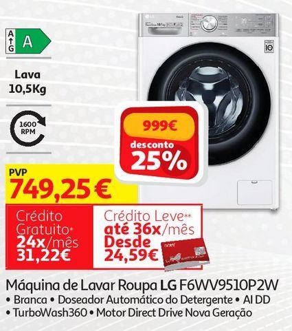 Oferta de Máquina de Lavar Roupa LG F6WV9510P2W  por 749,25€