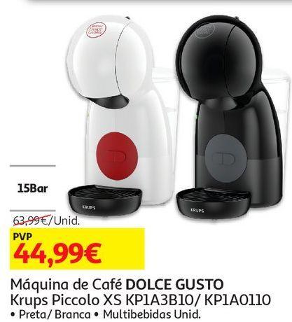 Oferta de MAQUINA CAFE DOLCE GUSTO KRUPS PICCOLO XS por 44,99€