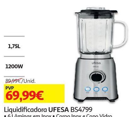 Oferta de LIQUIDIFICADOR UFESA: BS4799 por 69,99€