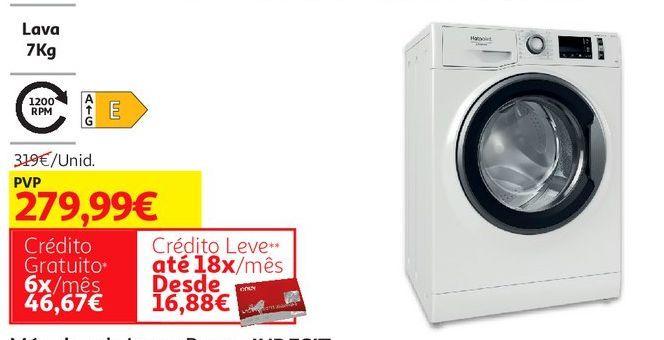 Oferta de MAQUINA LAVAR ROUPA INDESIT:BRANCA MTWA 71252 W SPT por 279,99€