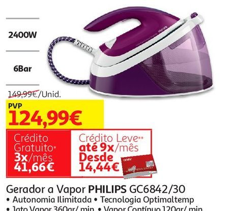 Oferta de GERADOR A VAPOR PHILIPS por 124,99€