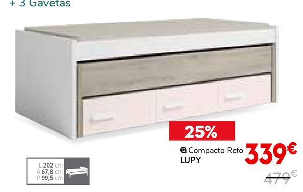 Oferta de Cama compacta por 339€
