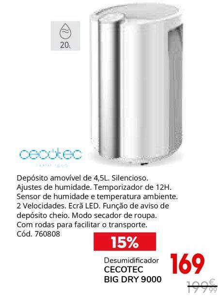Oferta de Desumidificador por 169€