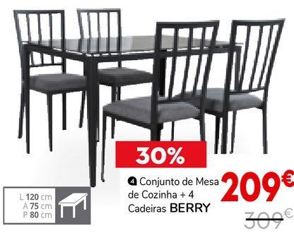 Oferta de Conjunto de mesa e cadeiras por 209€