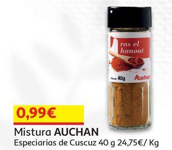 Oferta de MISTURA AUCHAN:ESPECIARIAS DE CUSCUZ 40 G por 0,99€