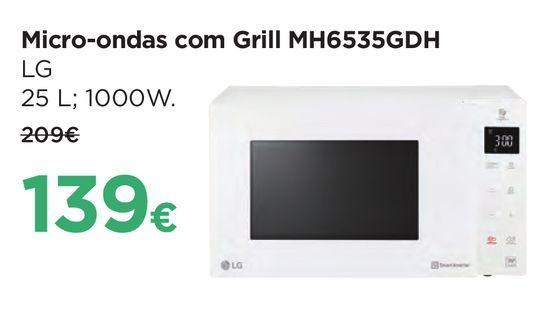 Oferta de Microondas com grill LG por