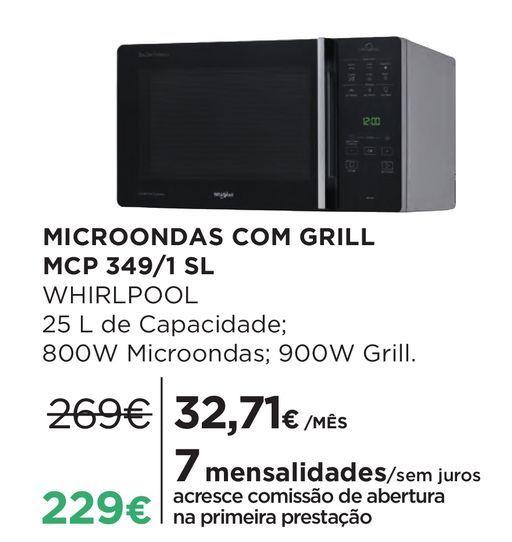 Oferta de Microondas com grill Whirlpool por