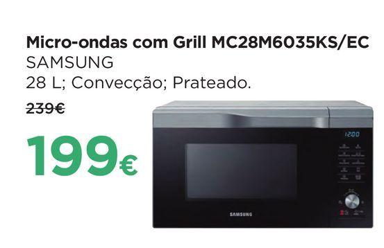 Oferta de Microondas com grill Samsung por