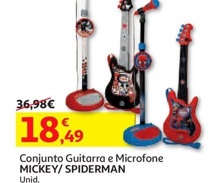 Oferta de CONJ. GUITARRA E MICROFONE por 18,49€