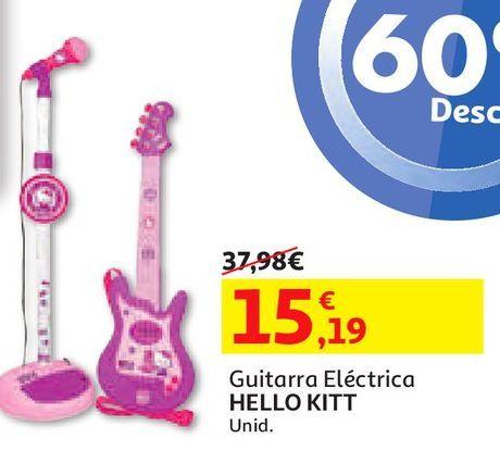 Oferta de GUITARRA ELECTRICA HELLO KITTY por 15,19€