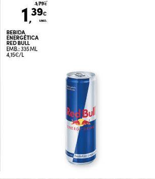 Oferta de Bebida energética Red Bull por 1,39€