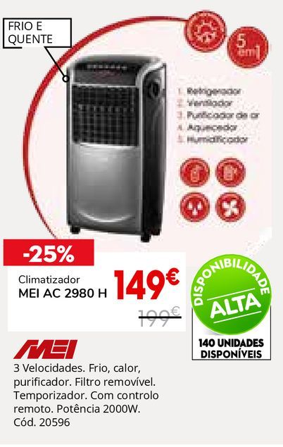 Oferta de Climatizador por 149€