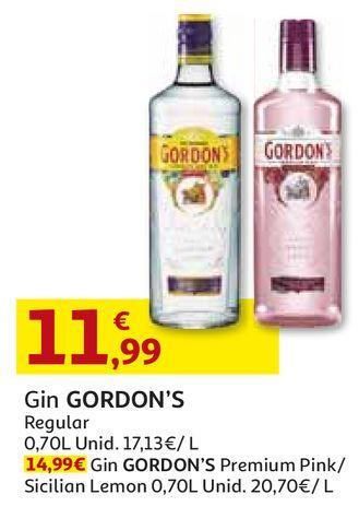 Oferta de GIN GORDON'S por