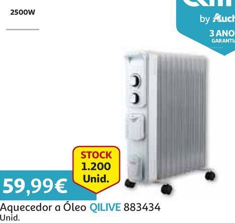 Oferta de AQUECEDOR A ÓLEO QILIVE  por 59,99€