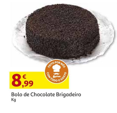 Oferta de BOLO DE CHOCOLATE BRIGADEIRO por 8,99€