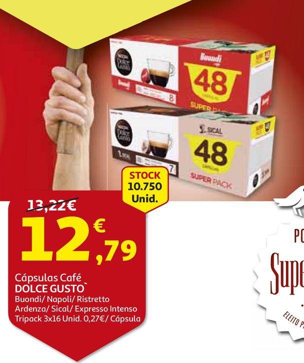 Oferta de CAPSULAS CAFE DOLCE GUSTO por 12,79€