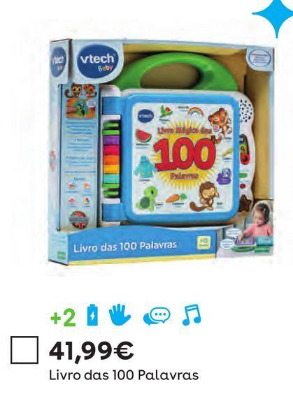 Oferta de Vtech - Livro das 100 Palavras por 41,99€